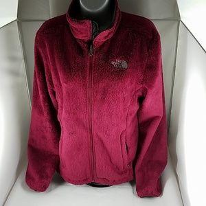Womens Burgundy The North Face Fleece Jacket M
